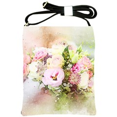 Flowers Bouquet Art Abstract Shoulder Sling Bags by Celenk