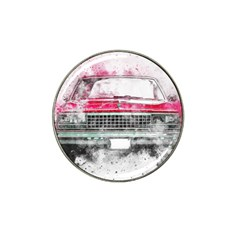 Car Old Car Art Abstract Hat Clip Ball Marker (4 Pack) by Celenk