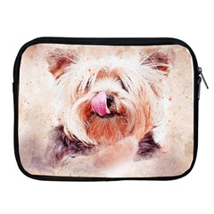 Dog Animal Pet Art Abstract Apple Ipad 2/3/4 Zipper Cases by Celenk