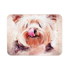 Dog Animal Pet Art Abstract Double Sided Flano Blanket (mini)  by Celenk