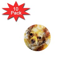 Dog Animal Art Abstract Watercolor 1  Mini Magnet (10 Pack)  by Celenk