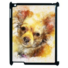 Dog Animal Art Abstract Watercolor Apple Ipad 2 Case (black) by Celenk