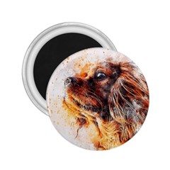 Dog Animal Pet Art Abstract 2 25  Magnets by Celenk
