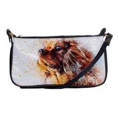Dog Animal Pet Art Abstract Shoulder Clutch Bags by Celenk