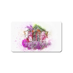 Window Flowers Nature Art Abstract Magnet (name Card) by Celenk