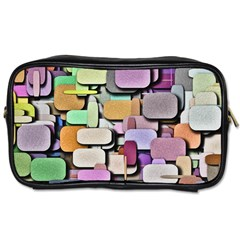 Background Painted Squares Art Toiletries Bags by Celenk