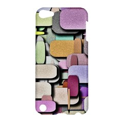 Background Painted Squares Art Apple Ipod Touch 5 Hardshell Case by Celenk