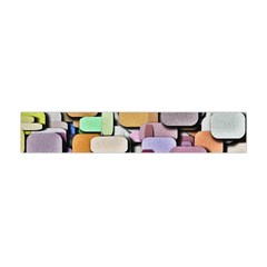 Background Painted Squares Art Flano Scarf (mini)
