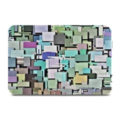 Background Painted Squares Art Plate Mats by Celenk