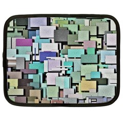 Background Painted Squares Art Netbook Case (large) by Celenk