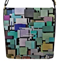 Background Painted Squares Art Flap Messenger Bag (s) by Celenk