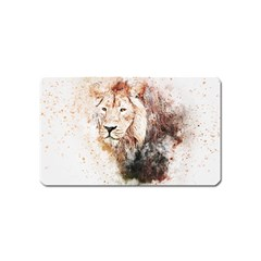 Lion Animal Art Abstract Magnet (name Card) by Celenk