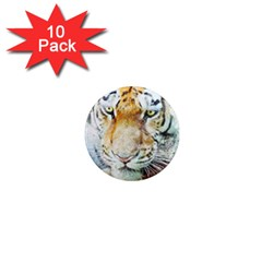 Tiger Animal Art Abstract 1  Mini Magnet (10 Pack)  by Celenk