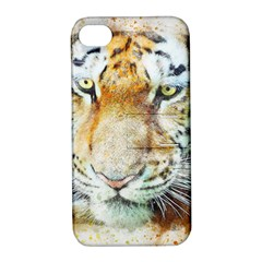 Tiger Animal Art Abstract Apple Iphone 4/4s Hardshell Case With Stand by Celenk