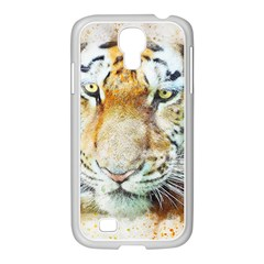 Tiger Animal Art Abstract Samsung Galaxy S4 I9500/ I9505 Case (white) by Celenk