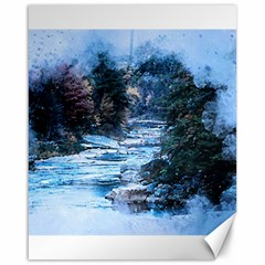 River Water Art Abstract Stones Canvas 16  X 20   by Celenk
