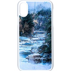River Water Art Abstract Stones Apple Iphone X Seamless Case (white)