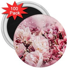 Flowers Bouquet Art Abstract 3  Magnets (100 Pack) by Celenk