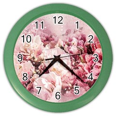 Flowers Bouquet Art Abstract Color Wall Clocks by Celenk