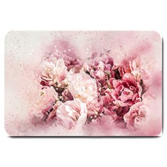 Flowers Bouquet Art Abstract Large Doormat  by Celenk
