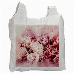 Flowers Bouquet Art Abstract Recycle Bag (one Side) by Celenk