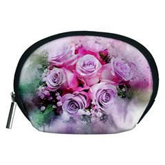 Flowers Roses Bouquet Art Abstract Accessory Pouches (medium)  by Celenk