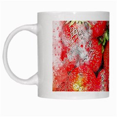 Strawberries Fruit Food Art White Mugs
