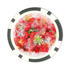 Strawberries Fruit Food Art Poker Chip Card Guard (10 Pack) by Celenk