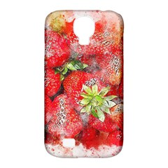 Strawberries Fruit Food Art Samsung Galaxy S4 Classic Hardshell Case (pc+silicone) by Celenk
