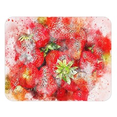Strawberries Fruit Food Art Double Sided Flano Blanket (large)  by Celenk