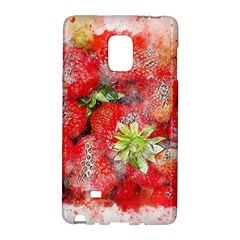 Strawberries Fruit Food Art Galaxy Note Edge by Celenk