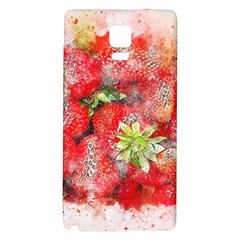 Strawberries Fruit Food Art Galaxy Note 4 Back Case by Celenk