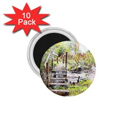 River Bridge Art Abstract Nature 1 75  Magnets (10 Pack)  by Celenk