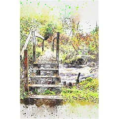 River Bridge Art Abstract Nature 5 5  X 8 5  Notebooks by Celenk