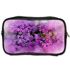 Flowers Spring Art Abstract Nature Toiletries Bags 2 Side by Celenk
