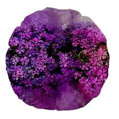 Flowers Spring Art Abstract Nature Large 18  Premium Round Cushions by Celenk
