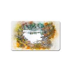 River Water Art Abstract Stones Magnet (name Card) by Celenk