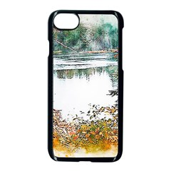 River Water Art Abstract Stones Apple Iphone 7 Seamless Case (black) by Celenk