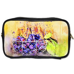 Fruit Plums Art Abstract Nature Toiletries Bags 2 Side by Celenk