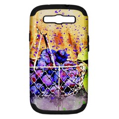 Fruit Plums Art Abstract Nature Samsung Galaxy S Iii Hardshell Case (pc+silicone) by Celenk