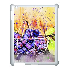 Fruit Plums Art Abstract Nature Apple Ipad 3/4 Case (white)