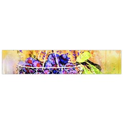 Fruit Plums Art Abstract Nature Small Flano Scarf by Celenk