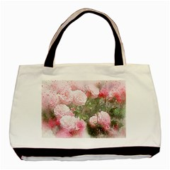 Flowers Roses Art Abstract Nature Basic Tote Bag by Celenk
