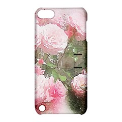 Flowers Roses Art Abstract Nature Apple Ipod Touch 5 Hardshell Case With Stand by Celenk