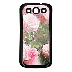 Flowers Roses Art Abstract Nature Samsung Galaxy S3 Back Case (black) by Celenk