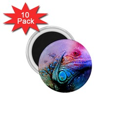 Lizard Reptile Art Abstract Animal 1 75  Magnets (10 Pack)  by Celenk