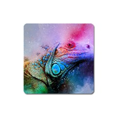 Lizard Reptile Art Abstract Animal Square Magnet by Celenk