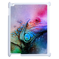Lizard Reptile Art Abstract Animal Apple Ipad 2 Case (white) by Celenk