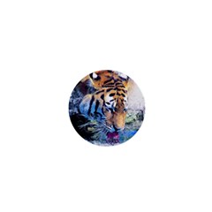 Tiger Drink Animal Art Abstract 1  Mini Magnets by Celenk