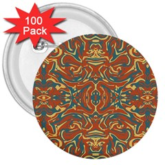 Multicolored Abstract Ornate Pattern 3  Buttons (100 Pack)  by dflcprints